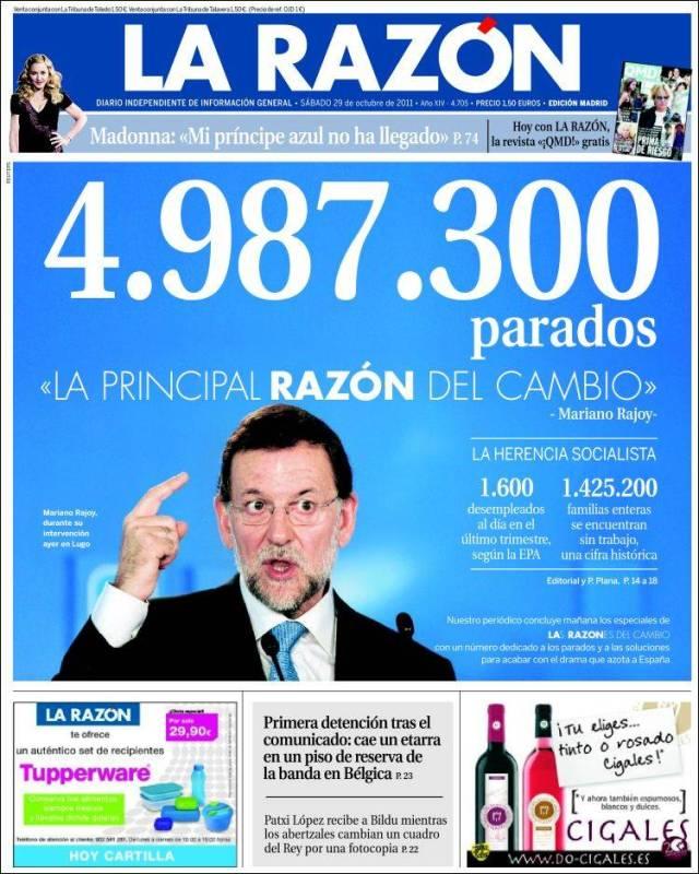 Portada La Razon 5 millones